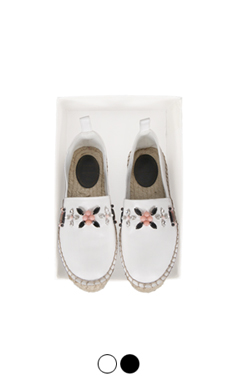 crystal flower espadrilles <br> (2 colors)