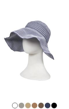 stripe bonnet sun visor
