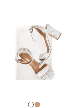 "perforated ankle-strap sandals <br> <font color=#ff9999 size=""1.9"" face=verdana>BEST BUY</font>"