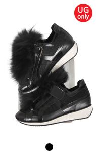 pierre fur embellished sneakers