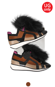 pierre fur embellished sneakers <br> (color-block)