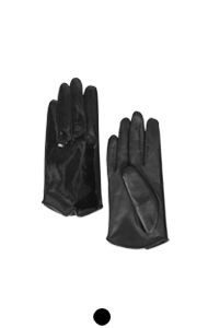 patent leather short gloves