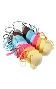 """colorful t-shirts bra set(10 <font color=#82C7E4 size=""""1.9"""" face=verdana>colors)COLOR ADD</font>"""