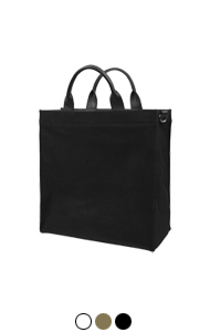 "AP canvas shopper bag <br> (3 colors) <br> <font color=#82C7E4 size=""1.9"" face=verdana>COLOR ADD</font>"
