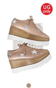 favorite oxford creepers <br> with star(pink beige)