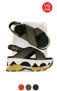 """high platform activity sandals <br> (3 colors) <br> <font color=#82C7E4 size=""""1.9"""" face=verdana>COLOR ADD</font>"""
