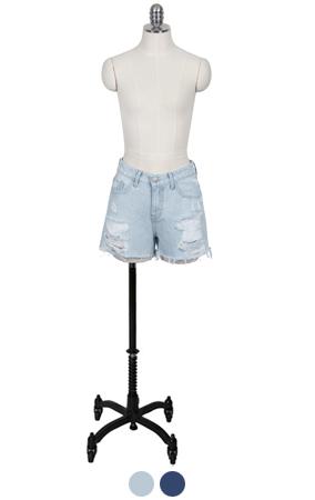 (upgrade)easy shorts denim <br> (2 colors)