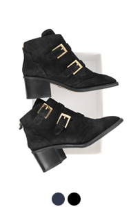 laurence suede ankle boots <br> (2 colors)