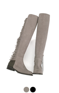fringed fifty fifty boots <br> (2 colors)