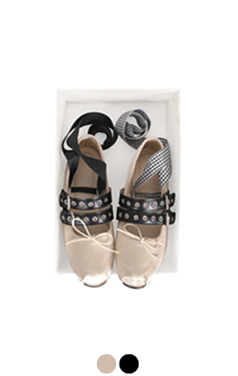 funky lace-up ballet flats