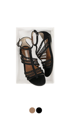 punching strappy sandals