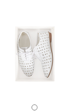 perforated white oxford