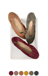 everyday suede flats