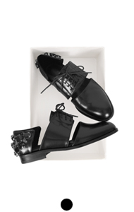 JEWELED CUT-OUT OXFORD