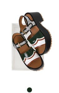 mixed platform sandals