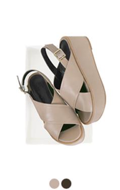 crisscross platform sandals