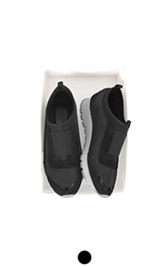 mixed fabric black sneakers