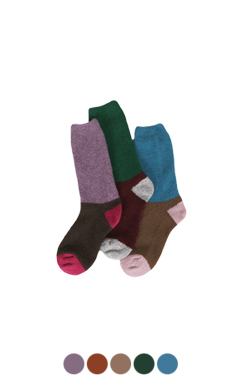 color-block warmer socks