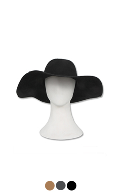 "wide brim wool-felt hat <br> <font color=#82C7E4 size=""1.9"" face=verdana>COLOR ADD</font>"