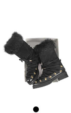 cross-rope winter boots