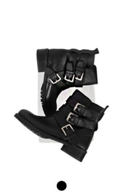 strappy buckled walker boots