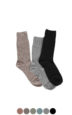 very soft melange socks