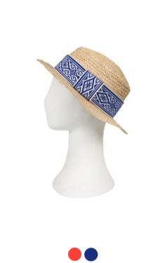 "UTG raffia hat#07 <br> <font color=#82C7E4 size=""1.9"" face=verdana>COLOR ADD</font>"