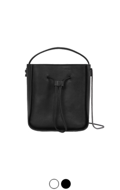 city​​ leather bucket bag