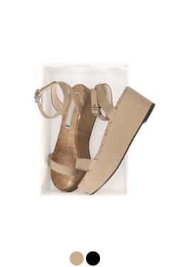 simply linen platform sandals