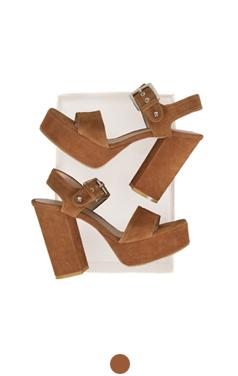 """favorite suede platform sandals <br> <font color=#ff9999 size=""""1.9"""" face=verdana>BEST BUY</font>"""