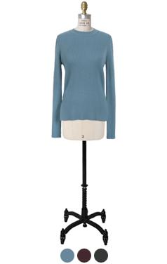 side-slit basic pullover
