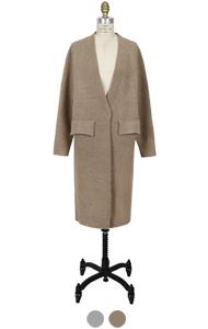 "flap pocket robe cardigan <br> (2 <font color=#82C7E4 size=""1.9"" face=verdana>colors)RESTORE</font>"