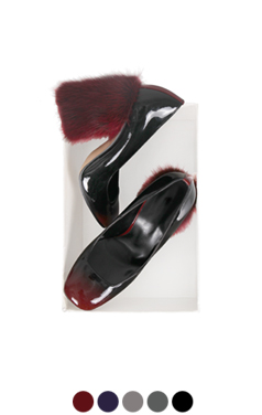 mink-fur-heel pumps