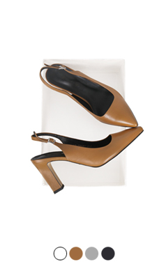 MUSTBUY SIMPLE SLING-BACKS(8cm)