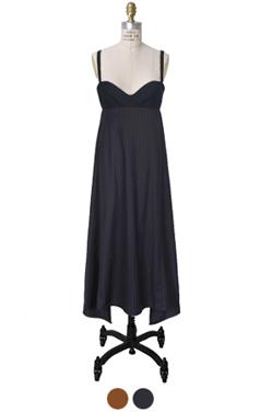 """pinstriped bustier dress <br> <font color=#82C7E4 size=""""1.9"""" face=verdana>COLOR ADD</font>"""