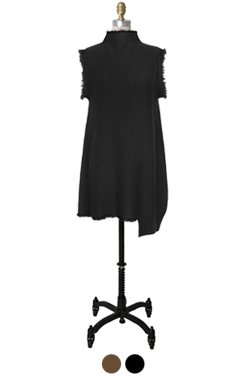 half-neck knitted dress