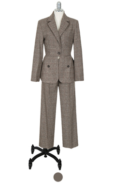 "lapel plaid suit <br> <font color=#82C7E4 size=""1.9"" face=verdana>SIZE ADD</font>"