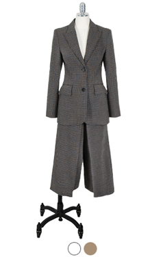 glen check garcon suit