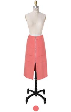 2way zipped pink skirt