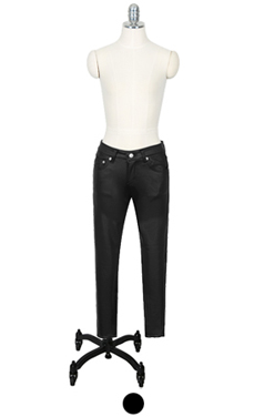 very skinny faux-leather pants
