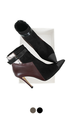 "patchwork cap-toe ankle boots <br> <font color=#ff9999 size=""1.9"" face=verdana>BEST BUY</font>"
