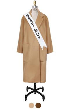 big pocket open coat