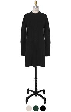 side-slit long sweater