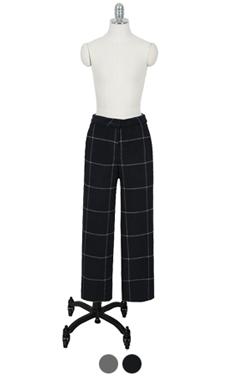 window pane woolen pants
