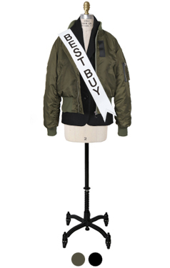 "layered bomber jacket <br> <font color=#82C7E4 size=""1.9"" face=verdana>COLOR ADD</font>"