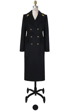 (luxe)embroidery navy coat