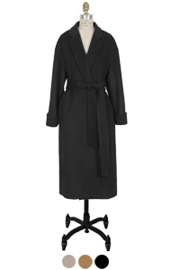 "classic outstitch robe coat <br> (3 colors) <br> <font color=#82C7E4 size=""1.9"" face=verdana>COLOR ADD</font>"