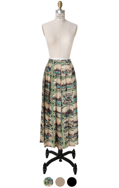 """daily pleated skirt <br> <font color=#82C7E4 size=""""1.9"""" face=verdana>SIZE ADD</font>"""