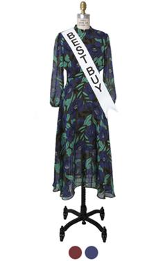 """FAVORITE BOHEMIAN LONG DRESS <br> <font color=#82C7E4 size=""""1.9"""" face=verdana>SIZE ADD</font>"""