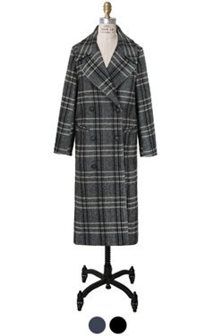 "MUSTBUY herringbone check coat <br> <font color=#82C7E4 size=""1.9"" face=verdana>COLOR ADD</font>"
